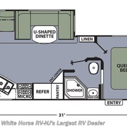 2018 Coachmen Apex 279RLSS floorplan image