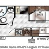 2017 Forest River Rockwood Roo 19 floorplan image