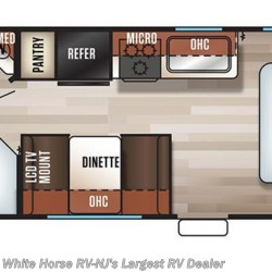2018 Forest River Grey Wolf 22MKSE floorplan image