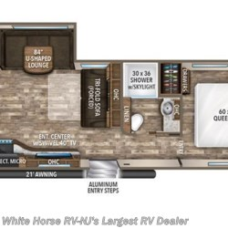 2018 Grand Design Reflection 285BHTS floorplan image