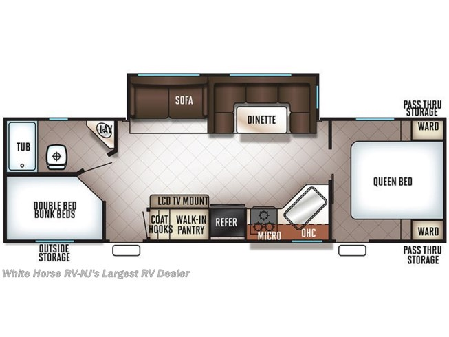2019 Forest River Cherokee 264CK floorplan image