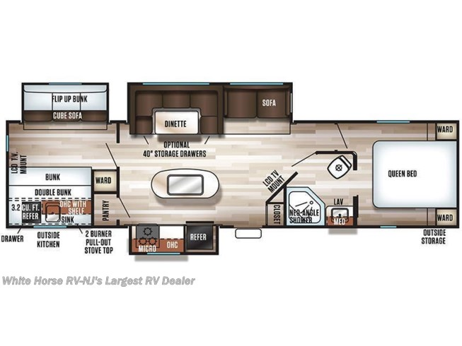 2018 Forest River Cherokee 304BH floorplan image