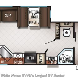 2019 Forest River Cherokee 264L floorplan image