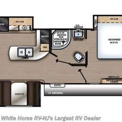 2019 Coachmen Catalina Legacy Edition 333RETS floorplan image