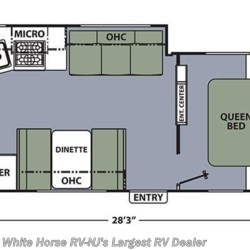 2018 Coachmen Apex 249RBS floorplan image