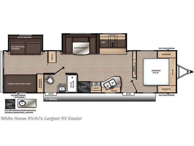 2019 Coachmen Catalina SBX 321BHDSCK floorplan image
