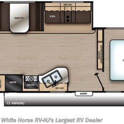 2019 Coachmen Catalina SBX 261BHS floorplan image