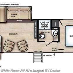 2019 Forest River Vibe 26RK floorplan image
