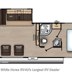 2019 Coachmen Catalina Legacy Edition 283RKS floorplan image