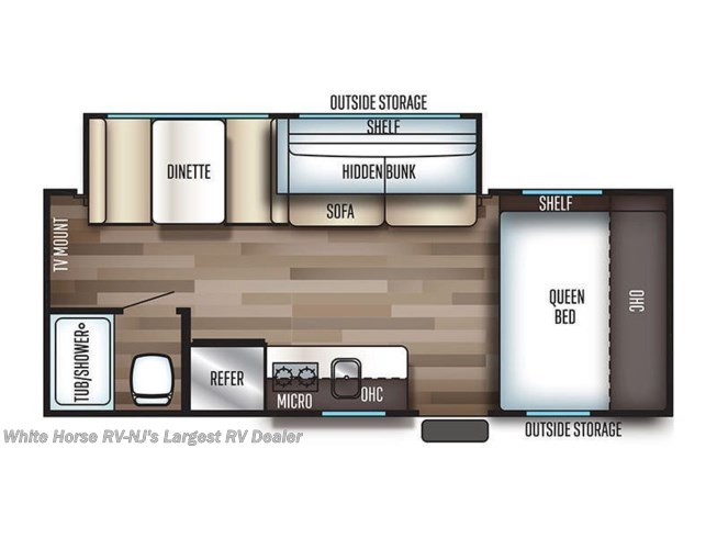 2019 Forest River Cherokee Wolf Pup 18TO floorplan image