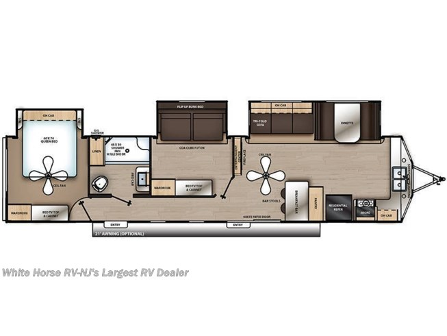 Floorplan of 2020 Coachmen Catalina Destination 39FKTS