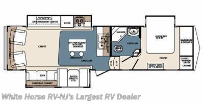 2011 Forest River Blue Ridge 3025RL floorplan image