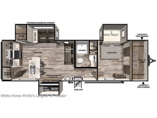 Floorplan of 2020 Forest River Vibe 31ML