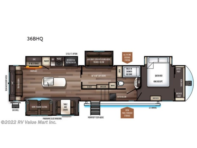 2021 Forest River Sabre 36BHQ - New Fifth Wheel For Sale by RV Value Mart Inc. in Lititz, Pennsylvania features Slideout
