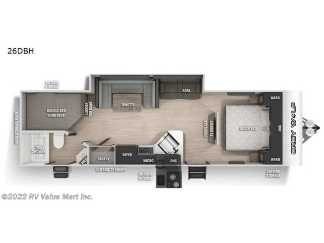 2021 Cherokee Grey Wolf 26DBH by Forest River from RV Value Mart Inc. in Lititz, Pennsylvania