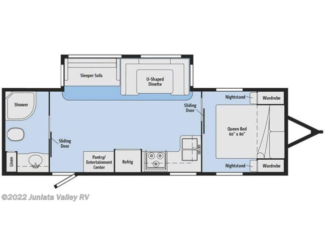 2018 Winnebago Minnie Plus 26RBSS floorplan image