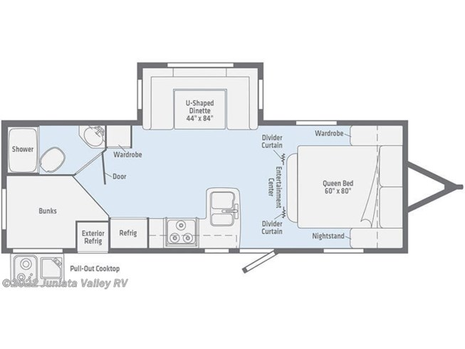 Floorplan of 2020 Winnebago Minnie 2455BHS