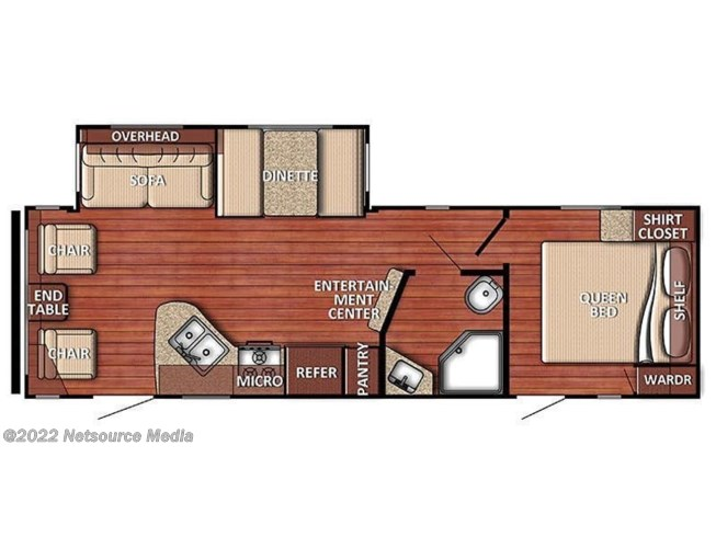 2019 Gulf Stream Conquest 262RLS floorplan image