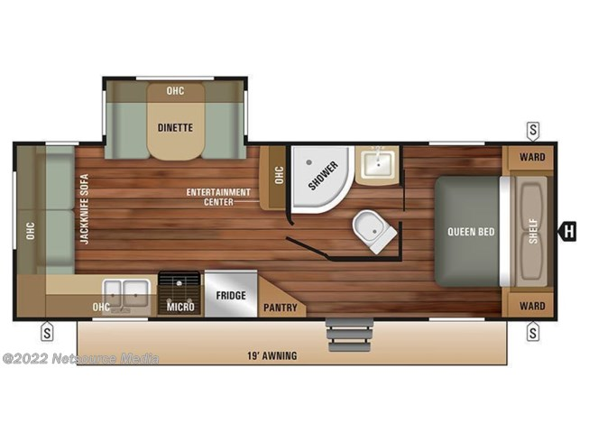 2019 Starcraft Launch Outfitter 24RLS floorplan image