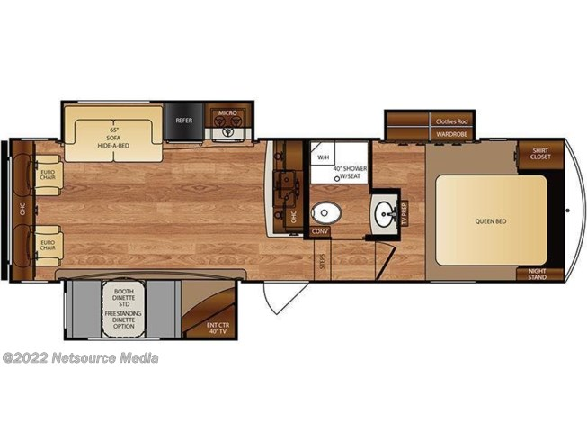 2017 Forest River Wildcat 30GT floorplan image