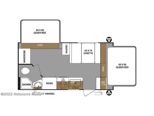2019 Forest River Surveyor Legend 191T floorplan image