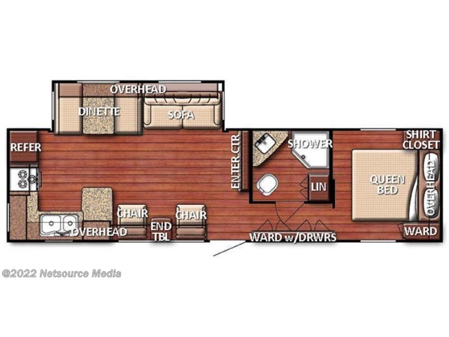 Floorplan of 2020 Gulf Stream Conquest 295SBW