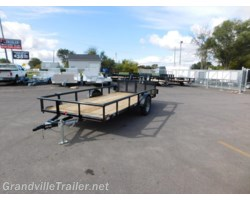 #1932 - 2018 Diamond C SINGLE AXLE UTILITY TRAILER 2PSA14X77