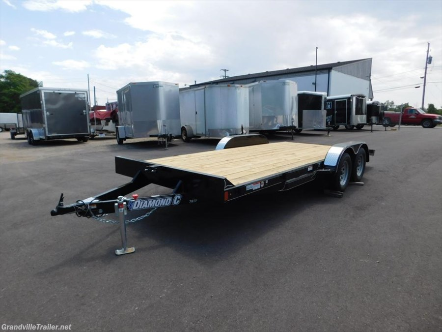 2018 Diamond C WOOD FLOOR FLATBED TRAILER 7GTFL18X83