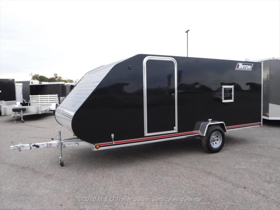New 8 5 X 29 Blackout Wedge V Nose Enclosed Snowmobile Car Hauler Atv Trailer