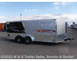 #352339 - 2017 Haulmark Low Hauler 7x16 Enclosed Motorcycle Trailer - Black/Silver