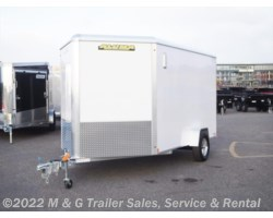 "#171906 - 2018 Aluma 7x12 Enclosed 6'9"" Cargo - White"