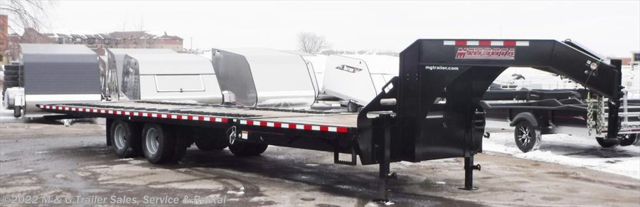2017 Midsota 32' Flat Bed Goose Neck Tilt Deck Trailer