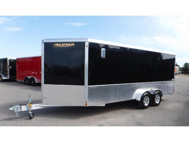"2018 Aluma 7x16TA Enclosed 6'6"" Int Cargo with Sport Pkg - Bl"