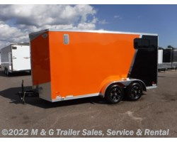 "#640449 - 2018 RC Trailers 7x14TA Enclosed 6'6"" Int Cargo - Orange/Black"