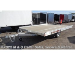 #176818 - 2018 Aluma 8612T Aluminum Tilt Bed Snowmobile Trailer