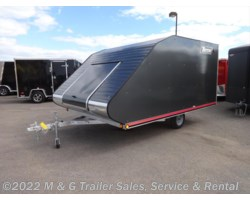 #L67773 - 2018 Triton Trailers TC128 Enclosed Snowmobile Trailer - Gray