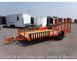 #500593 - 2018 H&H  8.5x12 Rail Side ATV/Utility Trailer - Orange