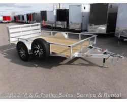 #502211 - 2018 H&H  8x10 Rail Side Aluminum Utility Trailer
