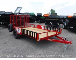 #500599 - 2018 H&H  8.5x14 Rail Side ATV/Utility Trailer - Red