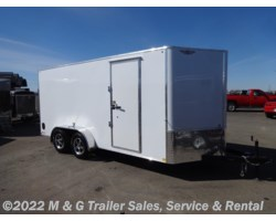 "#504883 - 2018 H&H  7x16 Enclosed 6'6"" Int Cargo - White"