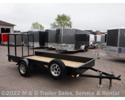 #500183 - 2018 H&H  5.5x12 Solid Side Utility Trailer - Black
