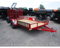 #500600 - 2018 H&H  8.5x12 Rail Side ATV/Utility Trailer - Red