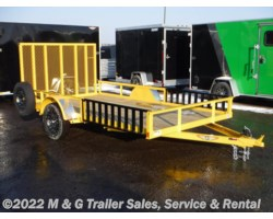 #500592 - 2018 H&H  8.5x12 Rail Side ATV/Utility Trailer - Yellow