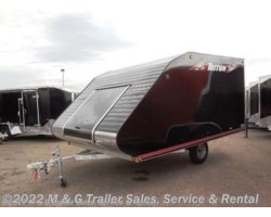#L68043 - 2019 Triton Trailers TC128 Enclosed Snowmobile Trailer - Black