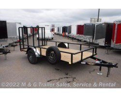 #501010 - 2018 H&H  8.5x14 Rail Side Utility Trailer - Black