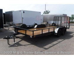 #276038 - 2017 H&H  8.5x18TA Rail Side Utility Trailer - Black