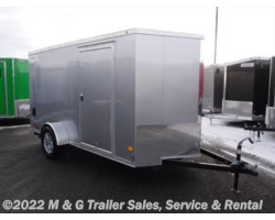 "#355238 - 2018 Haulmark 5000s 6X12SA Enclosed 6'6"" Int Cargo – Silver"