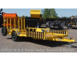 #500590 - 2018 H&H  8.5x14 Rail Side ATV/Utility Trailer - Yellow
