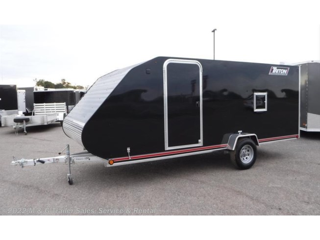 2016 Enclosed 2 Place Clam S Snowmobile Trailer