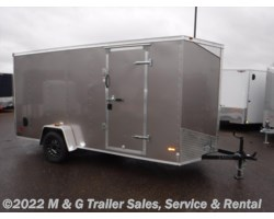 "#644348 - 2018 RC Trailers 6x14SA Enclosed 6'6"" Int Cargo - Pewter"